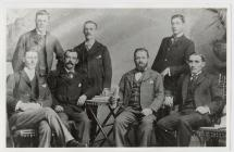 Photo of several settlers taken in B.A.  Seated...