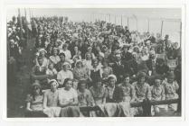Eisteddfod Gaiman 1933, in a tent.