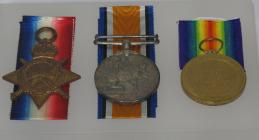 FWW medals, Pte Howell of 16th (Service)...