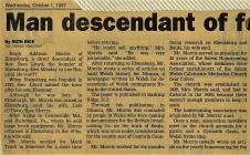 Hugh Morris Obituary October 1, 1997