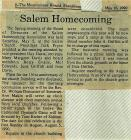 Salem Homecoming Association Reunion Article...