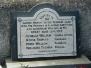 Memorial stone, Mamre Chapel, Trecwn