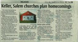 Salem Homecoming Association Reunion Articles 2010