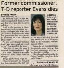 Susan Evans Obituaries 2012