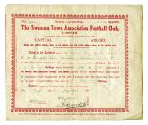 Swansea Town AFC Ltd Share Certificate