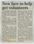 Newspaper clipping: 'New face to help get...
