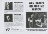Why Bother Helping Me Mister?', a booklet...