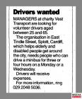 Clipping from page 21 of the South Wales Echo,...