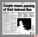 Clipping from the South Wales Echo promoting...