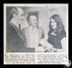 Newspaper cutting showing the President of the...
