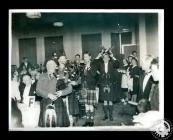 Photograph of piping in of the haggis at the...