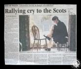 Newspaper cutting regarding the Cardiff...