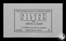 A ticket for Gavin Stamp's talk, '...