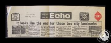 Newspaper article from the South Wales Echo,...
