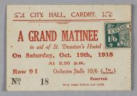 Flag Day entry ticket for a Grand Matinee...
