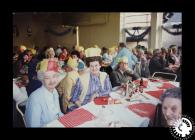 A photograph of a Christmas dinner at Clydach...