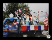 A photograph of the Line Dance Float taking...