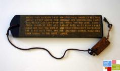 Small wooden board, belonging to the coastguard...