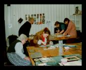 Photograph of women doing craft at a Makers...