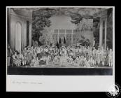 Photograph showing the cast of 'The Merry...