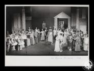 Photograph showing the cast of 'La Belle...