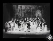 Photograph showing the cast of 'Brigadoon', as...