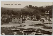 Laugharne from Castle Wall c1923