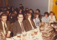Laura Ashley dinner, 1970s, with Gwlithyn and...