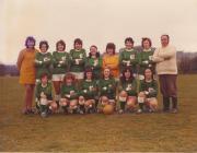 Laura Ashley football team, with Gwlithyn in...