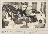 Photo: Christmas dinner in the canteen, c. 1950