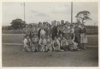 Photo: Johnsons Fabric workers, with Nesta 3rd...
