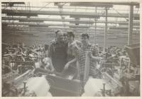 Photo Johnsons Fabric workers,  1950s