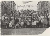 Photo: VE day in Nesta's street, 1946