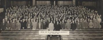 Photo: Staff visit to Bournville, Mair 2nd row,...