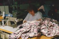 Photo: Olive working at Laura Ashley, 1980s