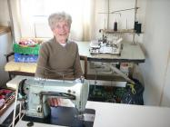 Photo: Margaret Humphreys with the machines she...