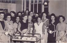 Photo: Courtaulds workers at the factory's...