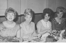 Sylvia Reardon at Christmas do with friend.