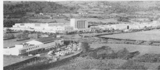 Aerial of BNS factory, Mamhilad, Pontypool