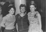 Doreen Lawson in a Christmas do (on the right)