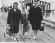 Workers on a trip to Weston Super Mare. Irene...