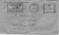 Envelope of letter from the union. Kayser...