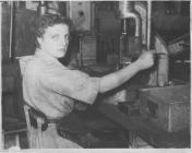 Photo: Colleage of Marjorie Collins  at work in...