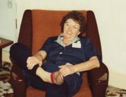 Marjorie Collins relaxing at home in her...