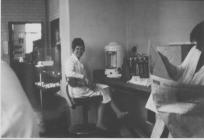 Janet Taylor in the lab at GKN (2nd period)...