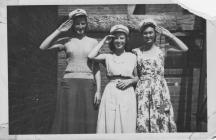 Marge Evans ouside work at Sobells v (in sailor...