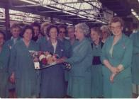 Woman retiring, Hoover factory.  Betty Probert...