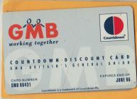 Doreen Bridges's GMB discount card.