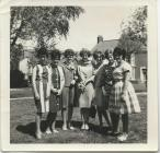 Photo of Hodges factory girls in wedding 1963