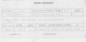 Document: wages statement Yvonne Bradley.